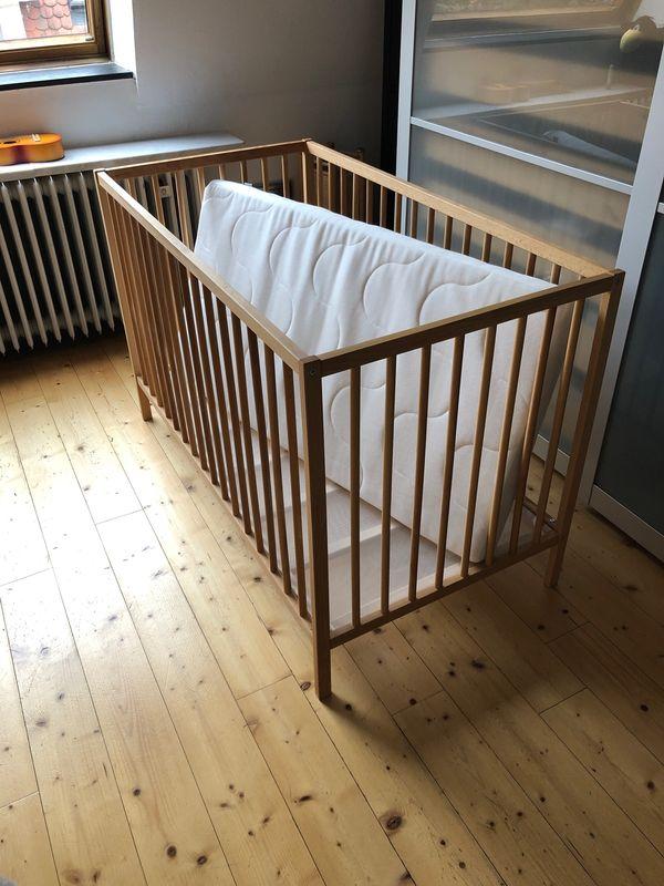 ikea baby kinderbett wie neu inkl matratze 60x120cm in. Black Bedroom Furniture Sets. Home Design Ideas