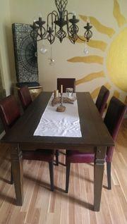 Tisch - 6 Stühle -
