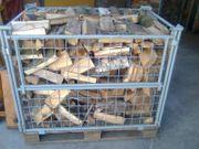 Gitterbox Birke Brennholz