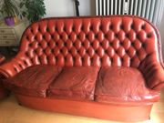 Sofa  Ledercouch  Chesterfield