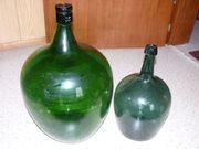 Ballonflasche, alt, grün,