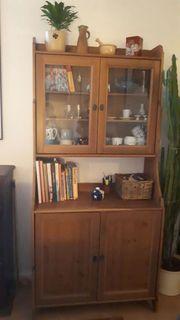 IKEA-Vitrine aus braunem Holz Selbstabholung
