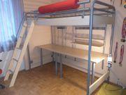 Hochbett mit Schreibtisch Kinder-Jugendzimmer Bettbodenhöhe140c
