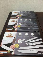 6-tlg Keramik Messer-Set Edelstahl extrascharf