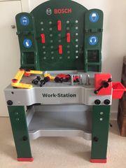 Bosch Kinder-Werkbank Werkzeug und Koffer