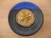 Teelichthalter blau schwarz Ton Keramik