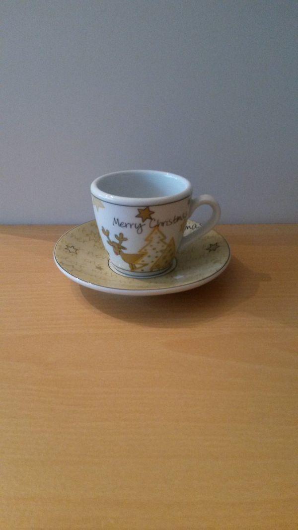 Espresso Tasse für Weihnachten mit