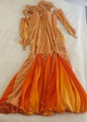 Bauchtanzkleid orange