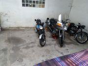 Motorrad Winterquartier zu