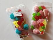 Süßigkeiten Fruchtgummi Schaumzucker kleine bunte