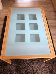 Esstisch ausziehbar mit 6 Lederstühlen