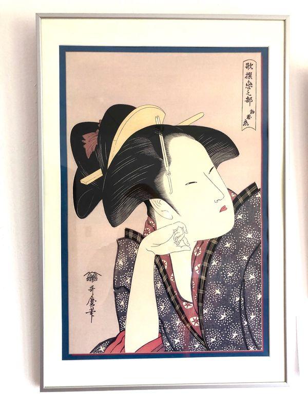 Kopf Geisha 03875 weiss