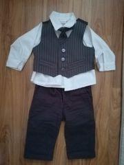 4tlg Anzug mit Hose Weste