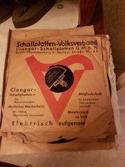 Alte Schelllack-Schallplatten-