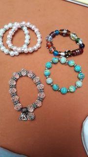 diverse Modeschmuck Armbänder mit bunten