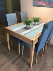 Esstisch milchglas  Tisch Stuehlen in Mannheim - Haushalt & Möbel - gebraucht und neu ...