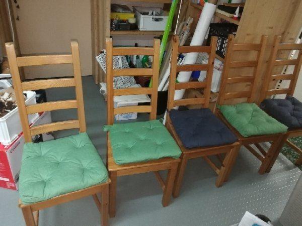 5 Kaustby Kiefer Holz Stuhle Ikea Sitzkissen Esszimmer Stuhle In