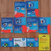 7 Wertkarte Simkarten Starterpakete mit
