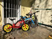 Kinderfahrrad und Laufräder