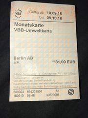 BVG Ticket für Anfang Oktober