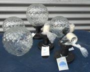 4 Außenlampen - Sockelleuchten -