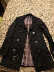 Mantel schwarz xs