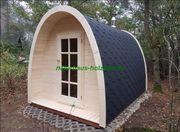 Campingpod, Campingfass, Saunapod,
