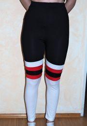 Leggins schwarz weiss rot Grösse