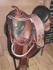 Schicker Stocksattel mit Horn 17