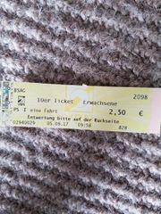 1 ticket zu
