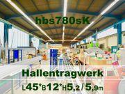 Stahlhallen-Tragwerk 45x12x6m
