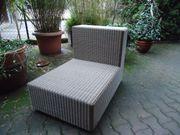 Garten Sitzelement creme natur Kunststoff