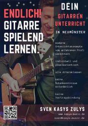 Privater Gitarrenunterricht in Neumünster