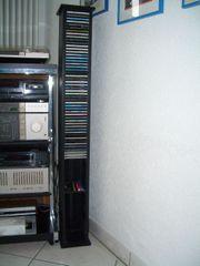50 CDs im Regal Holzständer
