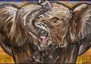 Elefantenkind Originalgemälde Acryl auf Leinwand