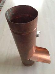 Kupfer Fallrohrklappe 60
