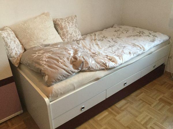 Komplettes Jugendzimmer, Kinderzimmer, Schlafzimmer, Bett, Schrank ...