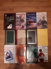12 Hartcover Romane von verschiedenen
