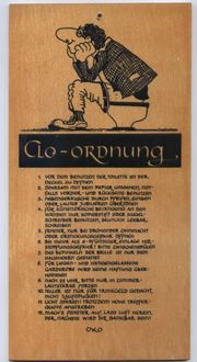 Scherzschild Clo - Ordnung