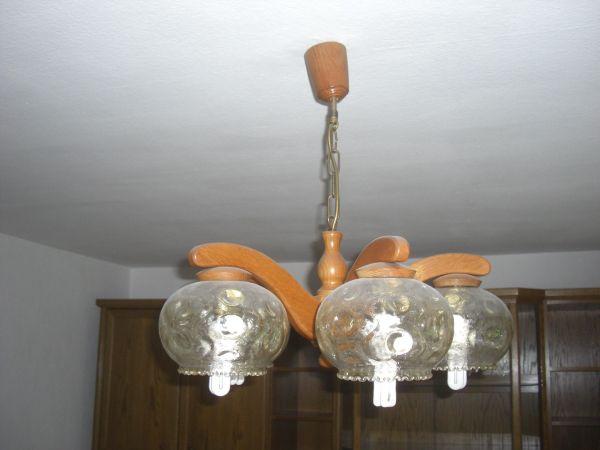 Wohnzimmerlampe esszimmerlampe hängelampe eiche rustikal landhaus in
