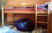 Kinderhochbett, Kiefer massiv