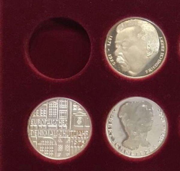 5 Mark Gedenkmünzen In Spiegelglanz Polierter Platte 1975 In